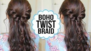 getlinkyoutube.com-Easy Twist Braid Hairstyle | Hair Tutorial