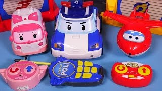 getlinkyoutube.com-Robocar Poli Super wings RC car toys - 로보카폴리 슈퍼윙스 무선조종 장난감