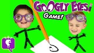 getlinkyoutube.com-Googly Eyes Game! Family Fun Drawing Challenge Contest by HobbyKidsTV