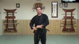 getlinkyoutube.com-KATANA 1 - SWORD: HOW TO WEAR IT - Ninjutsu Online Instruction - Ninja weapon sword - Machida