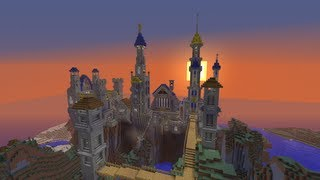 getlinkyoutube.com-Minecraft Fantasy Castle Build Timelapse