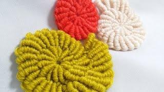 getlinkyoutube.com-랏지바늘 사용 뜨개질 방법 / 코바늘 불리언 스티치 뜨는 방법/슈에이의 뜨개노트 3/뜨개질만화/how to Crochet bullion stitch with skill needle