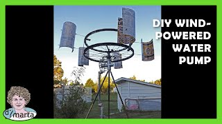 getlinkyoutube.com-DIY Wind-Powered Water Pump. Cata-Vento com Bomba de Agua.
