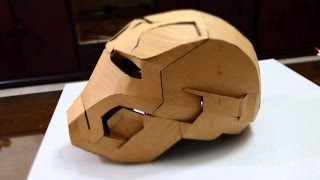 getlinkyoutube.com-#28: Iron Man Mark 42 Helmet Part 2 - Glue gun, jaw, top, back & ears | Dali DIY