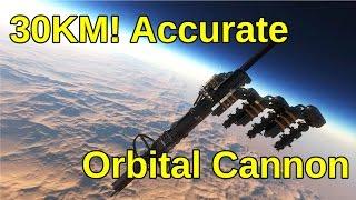 getlinkyoutube.com-30KM Accurate Orbital Cannon | Space Engineers