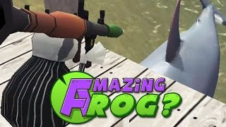 getlinkyoutube.com-Amazing Frog - SHARKS VS ROCKET LAUNCHER - PC Gameplay Part 11
