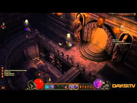 Diablo 3 Beta Wizard Gameplay with Funny Commentary by Day[9] P2