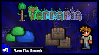 getlinkyoutube.com-Let's Play Terraria 1.2.4    Mage Class Playthrough    Getting Started & Avoiding Mobs! [Episode 1]