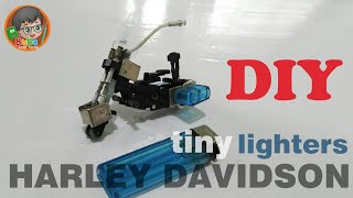 getlinkyoutube.com-How to make Tiny Motorcycle (Harley Davidson) Made from Cheap Lighters