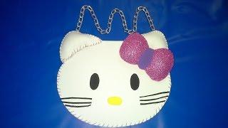 getlinkyoutube.com-Como hacer una Bolsita o Cartera de Hello Kitty