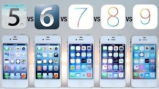 getlinkyoutube.com-iOS 5 vs iOS 6 vs iOS 7 vs iOS 8 vs iOS 9 on iPhone 4S Speed Test