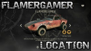 Mad Max Rare Car 'FLAMERGAMER' Location