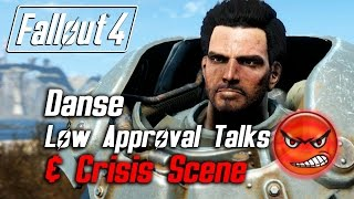 getlinkyoutube.com-Fallout 4 - Paladin Danse - All Low Approval Talks & Crisis Scene (Danse Leaves Forever) *SPOILERS*