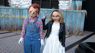 getlinkyoutube.com-Getting Scared In All The Scare Zones At Halloween Horror Nights Universal Orlando HHN25