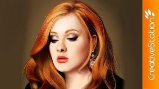getlinkyoutube.com-Adele - Speed Painting (#Photoshop) | CreativeStation
