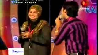 getlinkyoutube.com-Rahana & Shameer old mappila COMADY SONG ON PATTURUMAL STAGE SHOW