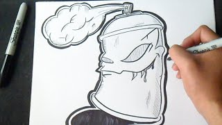 getlinkyoutube.com-Comment dessiner Bombe de peinture Graffiti