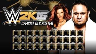 getlinkyoutube.com-WWE 2K16 DLC Roster - All Superstars & Divas - Official DLC list