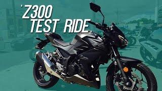 KAWASAKI Z300 test ride || First impression test ride