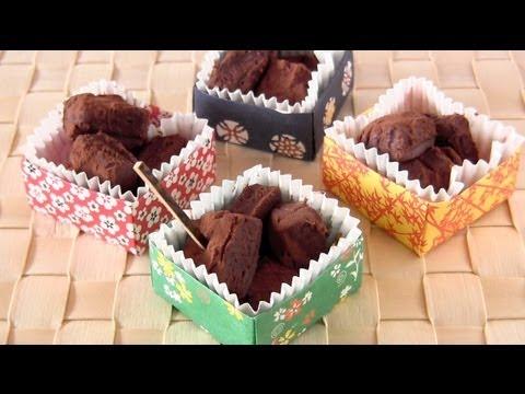 Ginjo Sake Nama Choco (Fresh Chocolate) for Valentine''s Day in Origami Box 生チョコ
