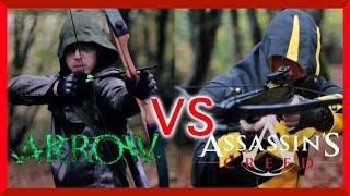 getlinkyoutube.com-Arrow Vs Assassins Creed