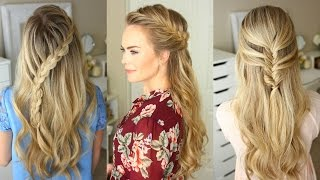 getlinkyoutube.com-3 Fall Half Up Hairstyles | Missy Sue