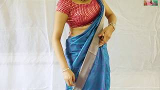 getlinkyoutube.com-Howto Wear Saree Very Easily By Your Own:Beautiful South Silk Sari Drape
