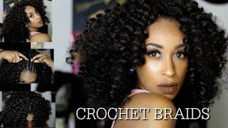 getlinkyoutube.com-HOW TO CROCHET BRAIDS FOR BEGINNERS! STEP BY STEP TUTORIAL USING JAMACIAN BOUNCE PRE CURLED HAIR