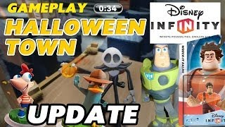 getlinkyoutube.com-Disney Infinity Jack Skellington / HALLOWEEN TOWN Toy Box Challenge Gameplay + Wreck It Ralph Update