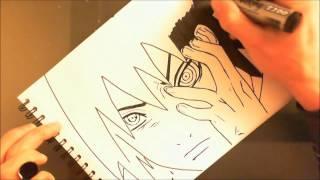 getlinkyoutube.com-Sasuke Uchiha Rinnegan Drawing