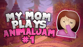 getlinkyoutube.com-MY MOM PLAYS ANIMAL JAM!