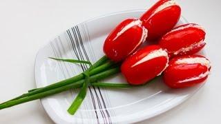 getlinkyoutube.com-How To Make Tomato Flowers