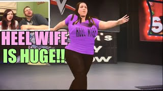 getlinkyoutube.com-HEEL WIFE REACTS TO FUNNY FAN MADE CAW of HERSELF! Hilarious WWE 2K16 Diva Match ps4 Gameplay