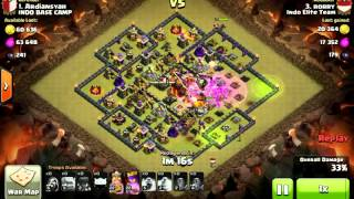 getlinkyoutube.com-3 Stars Clan War TH10 VS TH10 Gowiwi attack strategy (5 Golems)