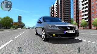 getlinkyoutube.com-City Car Driving 1.4.1 Renault Logan [1080P]
