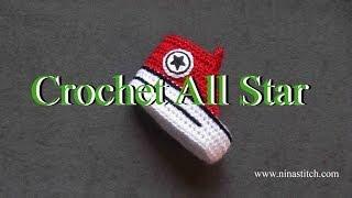 getlinkyoutube.com-How to crochet All Star on shoes