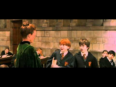 Harry Potter and the Philosopher's Stone - Harry and Ron are late for McGonagall's class (HD)