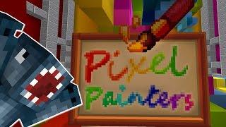 getlinkyoutube.com-Minecraft - Hypixel - Pixel Painters - Squiddy's Masterpiece!