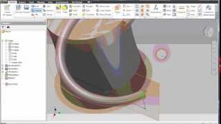 How to using Helical Curve and project to surface