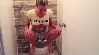 getlinkyoutube.com-How & why I squat on the toilet to poop (live demo)