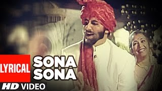 'Sona Sona' Lyrical VIDEO - Major Saab   Amitabh Bachchan, Ajay Devgn, Sonali Bendre