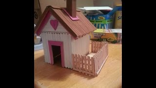 How To Make House Using Popsicle Stick - Simple Craft For Kid