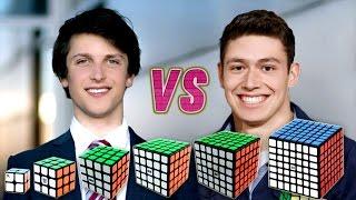 getlinkyoutube.com-Rubik's Cube World Record Race Kevin VS Feliks VS WCA Records VS Best Of Feliks And Kevin