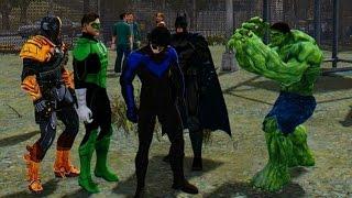 getlinkyoutube.com-Marvel vs DC - The Incredible Hulk vs Green Lantern, Batman, Deathstroke, Nightwing