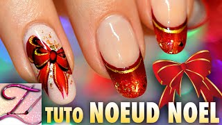 getlinkyoutube.com-Tuto nail art spécial Noël : double noeud One Stroke et french manucure