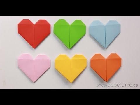 Corazón de papel. Tarjeta de San Valentín Origami