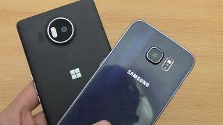 getlinkyoutube.com-Microsoft Lumia 950XL vs Samsung Galaxy S6 - Speed & Camera Test (4K)