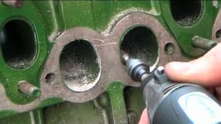 getlinkyoutube.com-Volvo Diesel Engine head porting  : grinder time !