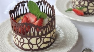 getlinkyoutube.com-How to Make Chocolate Lace Dessert Cups