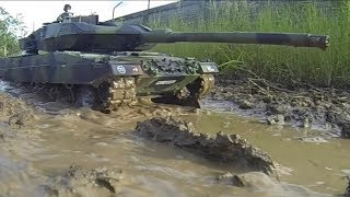 getlinkyoutube.com-RC tank 1/16 HL Leopard 2A6 field test... 540J motors, T2000 ESC, 5000maH